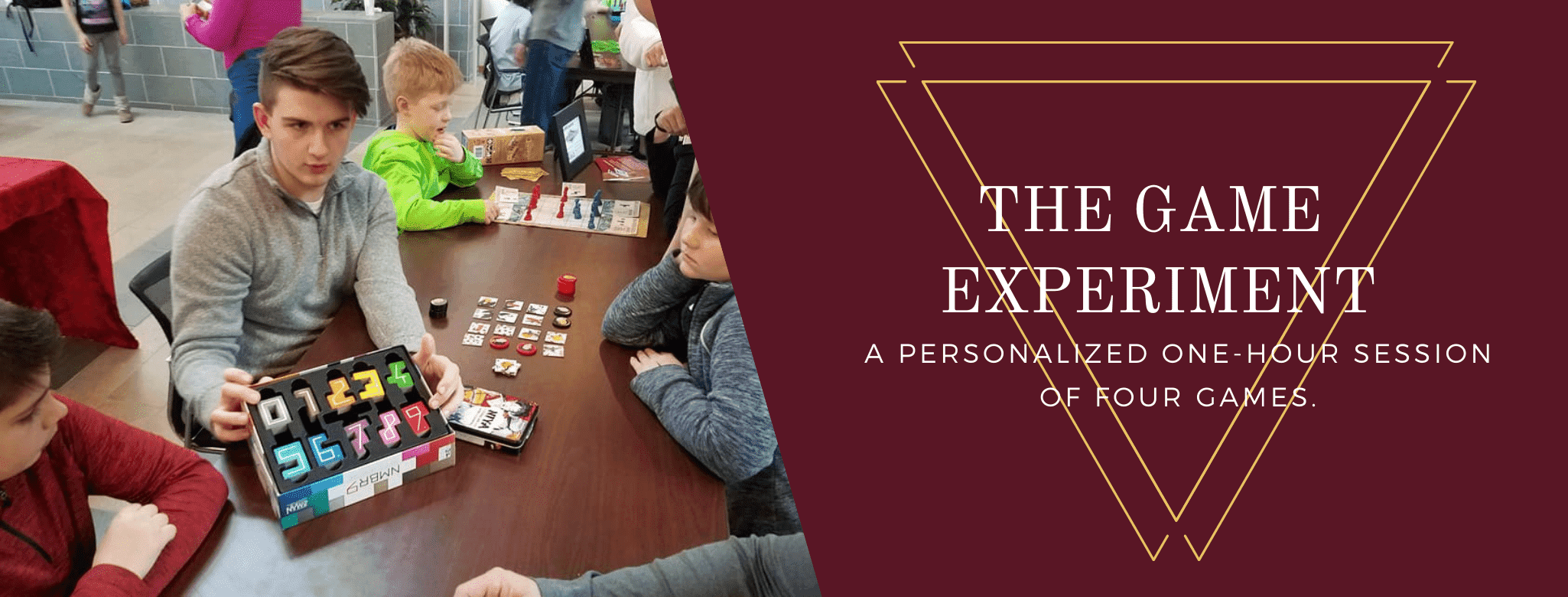 The GameExperience-- A personalized one hour session of four games